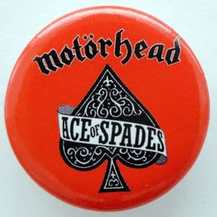 Motorhead - 'Ace of Spades Red' 32mm Badge