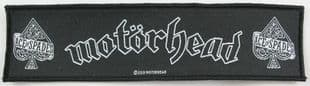 Motorhead - 'Ace of Spades' Woven Strip Patch