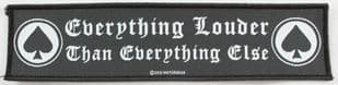 Motorhead - 'Everything Louder' Woven Strip Patch