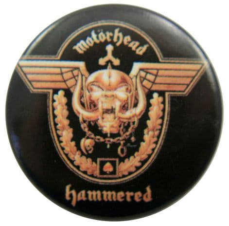 Motorhead - 'Hammered' Button Badge