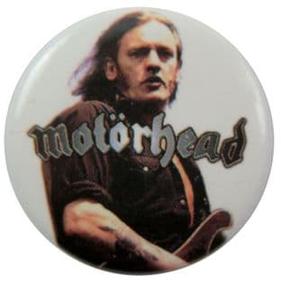 Motorhead - 'Lemmy White' Button Badge