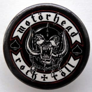 Motorhead - 'Rock + Roll' 32mm Badge