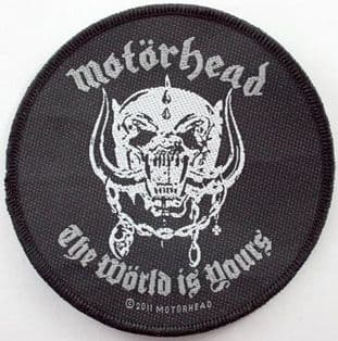 Motorhead - 'The World is Yours' Woven Patch