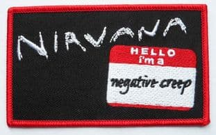Nirvana - 'Negative Creep' Embroidered Patch
