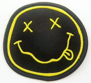 Nirvana - 'Smiley' Shaped Embroidered Patch