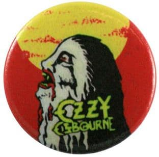 Ozzy Osbourne - 'Bark at the Moon Red & Yellow' Button Badge