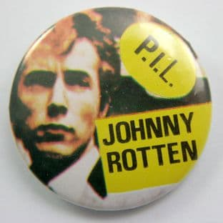 PiL - 'Johnny Rotten' Large Button Badge