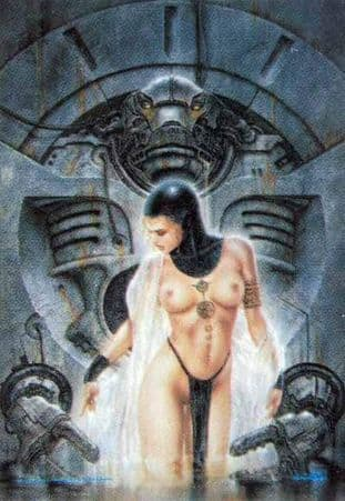 Preliminary by Luis Royo - Textile Poster Flag