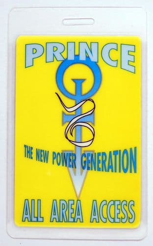 Prince - 'New Power Generation 1990All Area Access' Vintage Laminated Backstage Pass