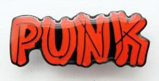 Punk - 'Red Name' Enamel Pin Badge