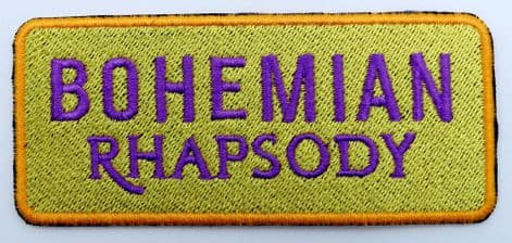 Queen - 'Bohemian Rhapsody' Embroidered Patch