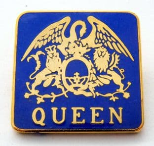Queen - 'Crest' Blue Enamel Badge