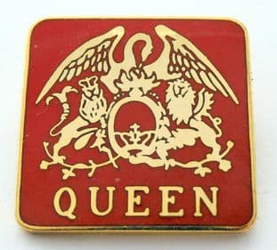 Queen - 'Crest' Red Enamel Badge