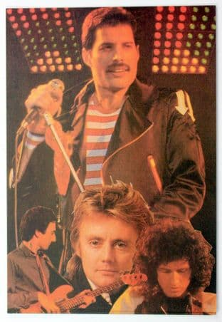 Queen - 'Group Collage' Postcard