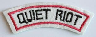 Quiet Riot - White Embroidered Shoulder Patch