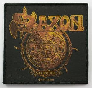 Saxon - 'Sacrifice' Woven Patch