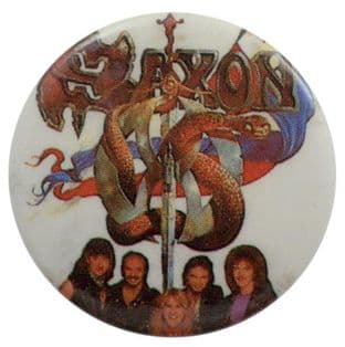Saxon - 'Sailing to America' Button Badge