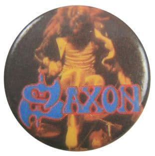 Saxon - 'Stage Jump' Button Badge