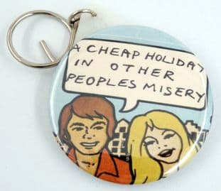 Sex Pistols - 'Holidays in the Sun' Large Round Mirror Keyring