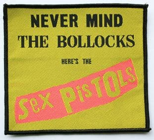 Sex Pistols - 'Never Mind the Bollocks Yellow' Woven Patch