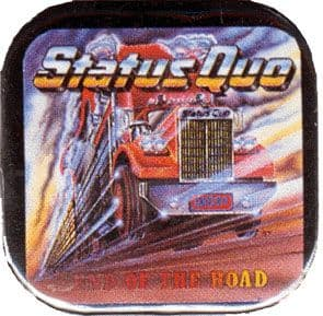 Status Quo - 'End of the Road' Square Badge