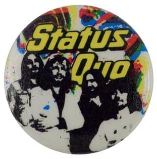 Status Quo - 'Group Sketch' Button Badge