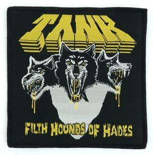 Tank - 'Filth Hounds of Hades (Black)' Woven Patch
