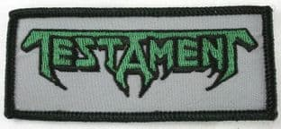 Testament - 'Logo' Embroidered Patch