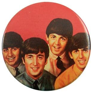 The Beatles - 'Group Red' 32mm Badge