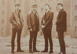 The Beatles - 'Group Sepia' Postcard