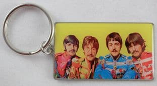 The Beatles - 'Sgt Pepper Yellow' Keyring
