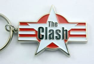 The Clash - 'Star Logo' Enamelled Metal Keyring