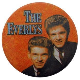 The Everlys - 'Phil & Don' Button Badge