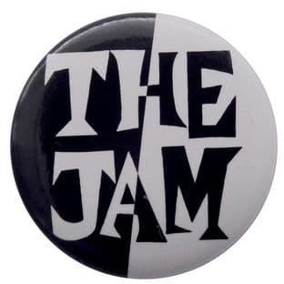 The Jam - 'Black and White Logo' Button Badge