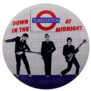 The Jam - 'Down in the Tubestation at Midnight' Button Badge