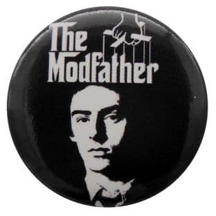 The Jam - 'Paul Weller The Modfather (Black)' Button Badge