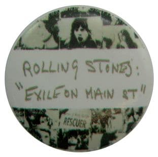 The Rolling Stones - 'Exile on Main Street' Button Badge