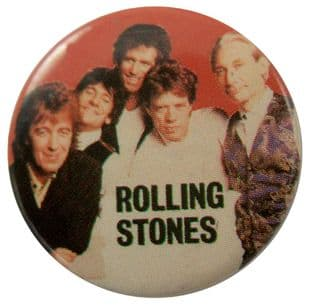 The Rolling Stones - 'Group Red' Button Badge