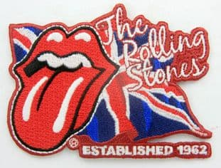 The Rolling Stones - 'Tongue Logo/Union Jack' Embroidered Patch