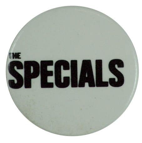 The Specials - 'Name White' Button Badge