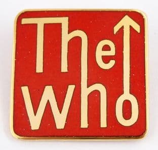 The Who - 'Logo' Red Enamel Badge