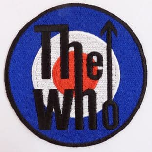 The Who - 'Target Logo' Sew-on Embroidered Patch