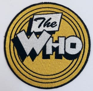 The Who - 'Yellow Circle Logo' Sew-on Embroidered Patch