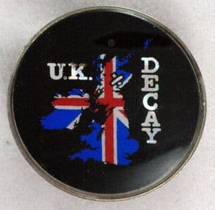 UK Decay - Prismatic Crystal Badge
