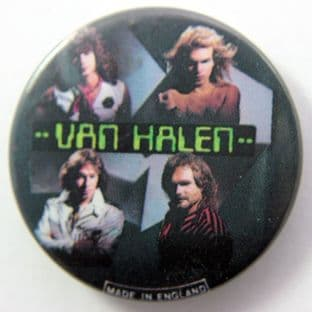 Van Halen - 'Band Members' Vintage 32mm Badge