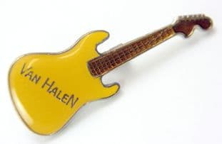 Van Halen - 'Yellow Guitar' Enamel Badge