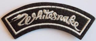 Whitesnake - Embroidered Shoulder Patch