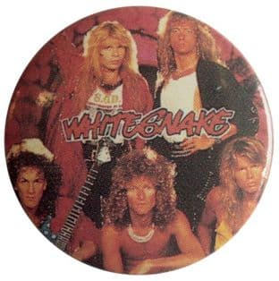 Whitesnake - 'Group' Button Badge