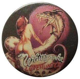 Whitesnake - 'Lovehunter' Button Badge