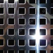 Chartham Square Hole 8mm Grille Polished Stainless Steel Sheet 2000mm x 1000mm x 1mm